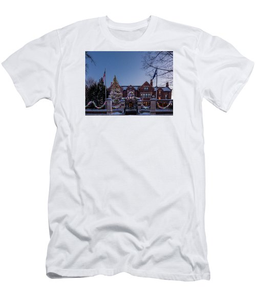 Christmas Lights Series #6 - Minnesota Governor's Mansion Men's T-Shirt (Athletic Fit)