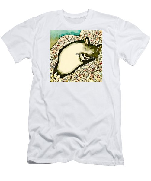 Men's T-Shirt (Slim Fit) featuring the photograph Minnie Siesta - Fashionable by Ronda Broatch