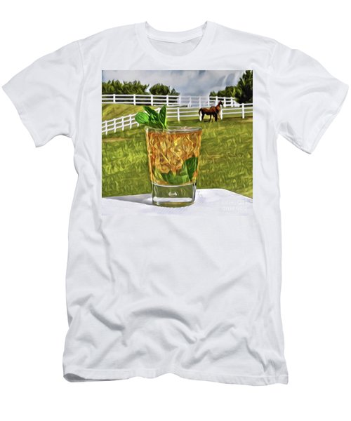 Mint Julep Kentucky Derby Men's T-Shirt (Athletic Fit)