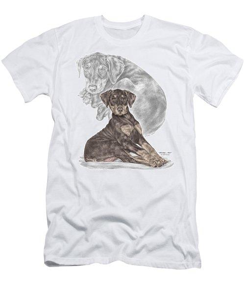 Mischief ... Moi? - Doberman Pinscher Puppy - Color Tinted Men's T-Shirt (Athletic Fit)
