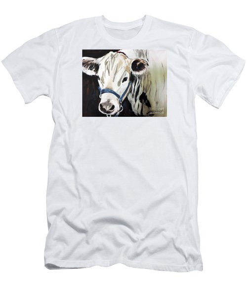 Men's T-Shirt (Slim Fit) featuring the painting Miss White by Tom Riggs
