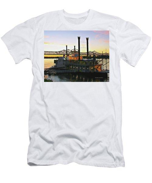 Mississippi Riverboat Sunset Men's T-Shirt (Athletic Fit)
