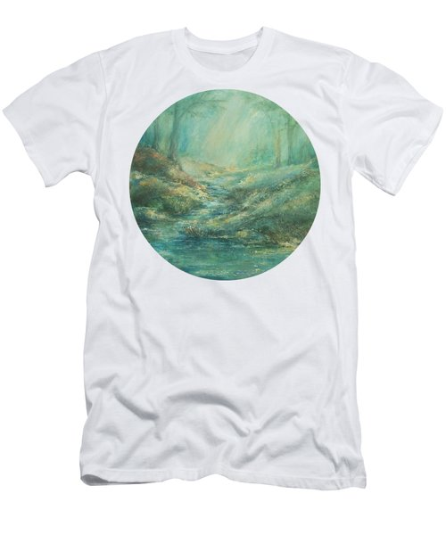 The Misty Forest Stream Men's T-Shirt (Athletic Fit)