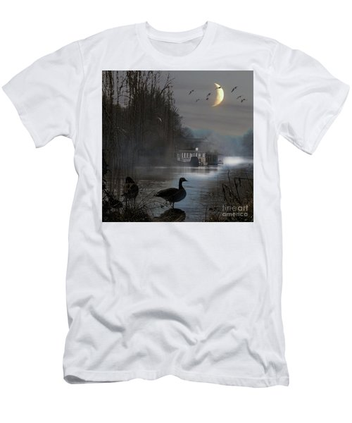 Men's T-Shirt (Athletic Fit) featuring the photograph Misty Moonlight by LemonArt Photography