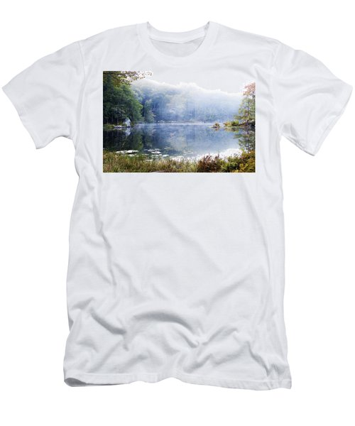 Men's T-Shirt (Slim Fit) featuring the photograph Misty Morning At John Burroughs #1 by Jeff Severson