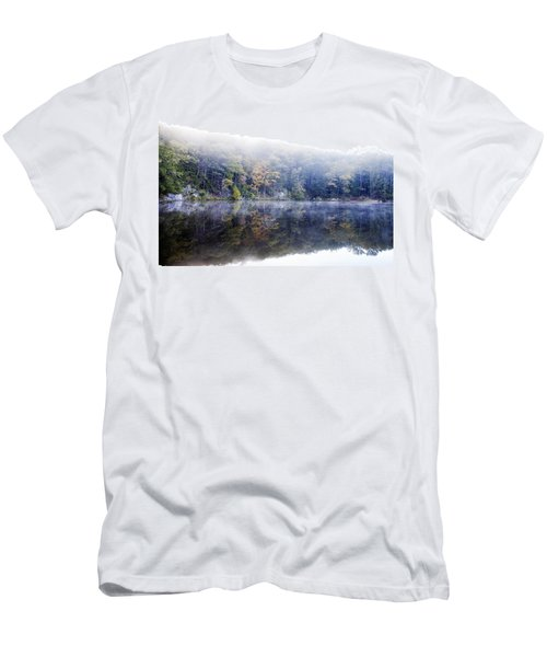 Men's T-Shirt (Slim Fit) featuring the photograph Misty Morning At John Burroughs #2 by Jeff Severson