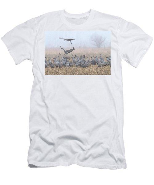 Misty Morning Nebraska Landing Men's T-Shirt (Athletic Fit)