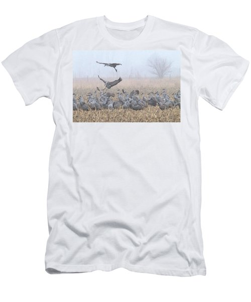 Misty Morning Nebraska Landing Men's T-Shirt (Athletic Fit)