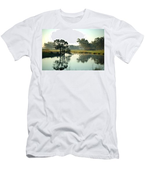 Misty Morning Pond Men's T-Shirt (Athletic Fit)