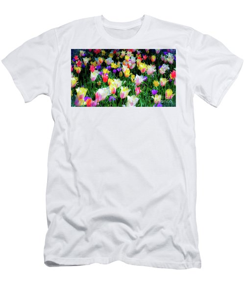 Mixed Tulips In Bloom  Men's T-Shirt (Athletic Fit)