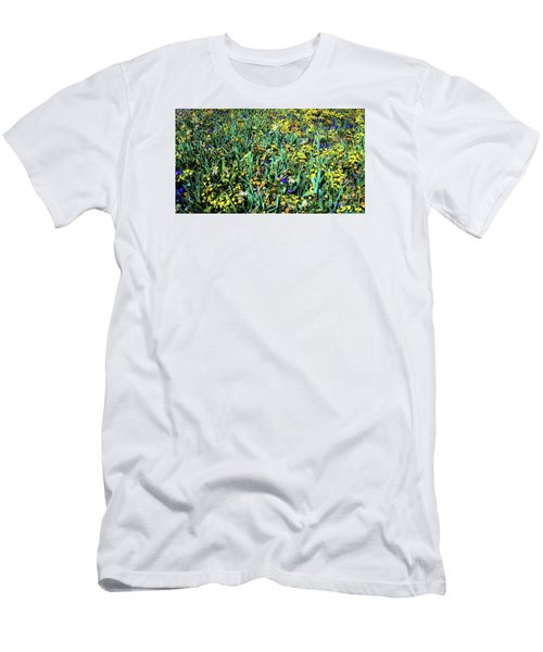 Mixed Wildflowers In Texas Men's T-Shirt (Athletic Fit)