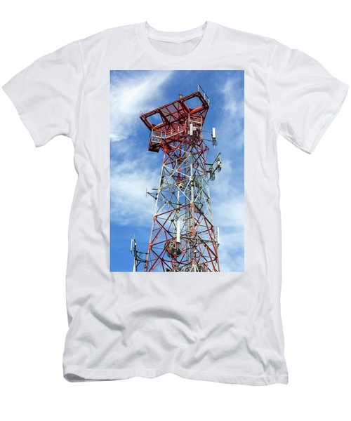 Mobile Phone Cellular Tower Men's T-Shirt (Athletic Fit)