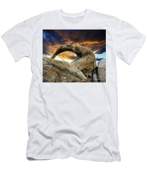 Men's T-Shirt (Slim Fit) featuring the photograph Mobious Arch California 7 by Bob Christopher