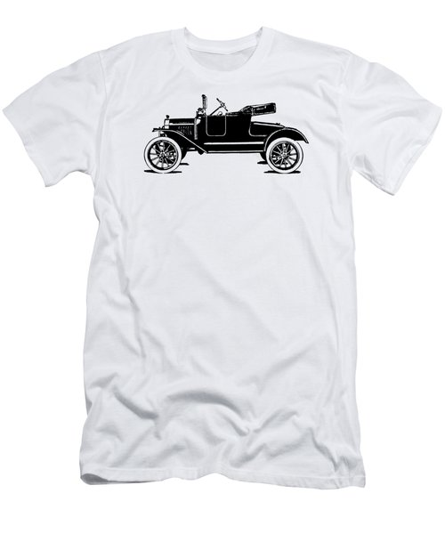 Model T Roadster Pop Art Black Men's T-Shirt (Athletic Fit)