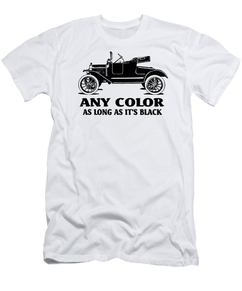 Model T Roadster Pop Art Black Slogan Men's T-Shirt (Athletic Fit)