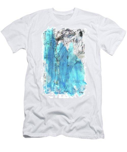 Modern Abstract Art - Blue Essence - Sharon Cummings Men's T-Shirt (Athletic Fit)