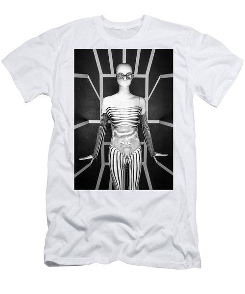 Modern Black And White Men's T-Shirt (Slim Fit) by Scott Meyer