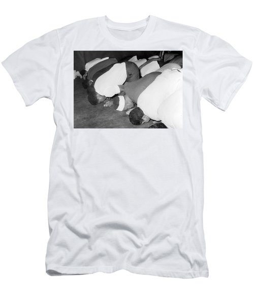Mohammad Ali At Mosque Men's T-Shirt (Athletic Fit)