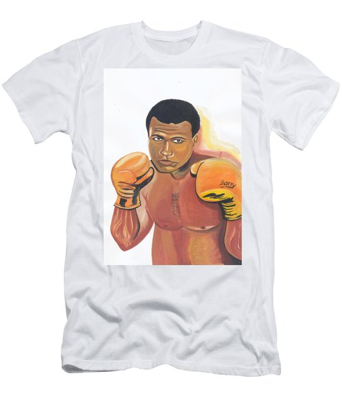 Men's T-Shirt (Slim Fit) featuring the painting Mohammed Ali by Emmanuel Baliyanga