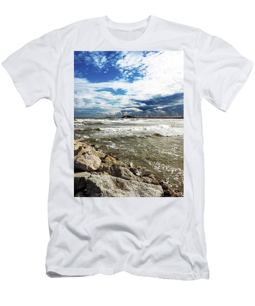 Mole Stones  In Rimini Men's T-Shirt (Athletic Fit)