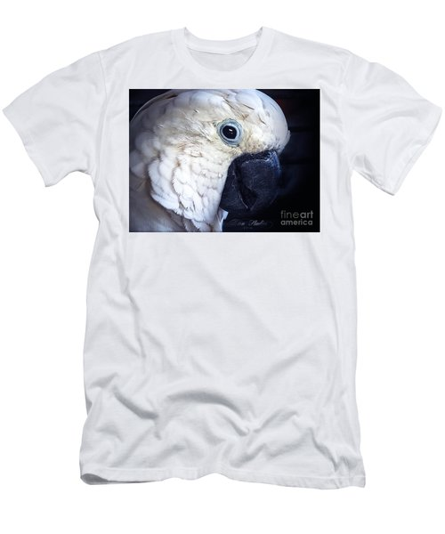 Moluccan Cockatoo Men's T-Shirt (Slim Fit) by Melissa Messick