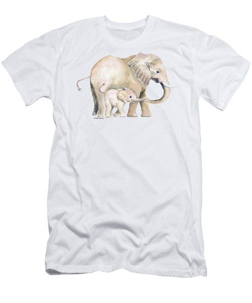 Mom And Baby Elephant 2 Men's T-Shirt (Athletic Fit)