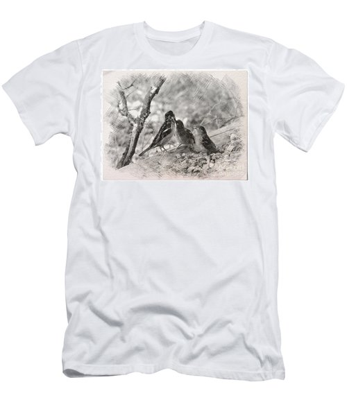 Men's T-Shirt (Slim Fit) featuring the photograph Mom, I Am Hungry by Debby Pueschel