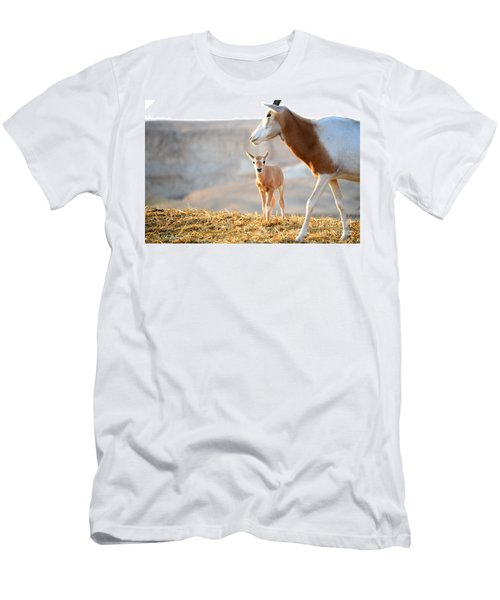 Men's T-Shirt (Slim Fit) featuring the photograph Mom's Supervision by Arik Baltinester