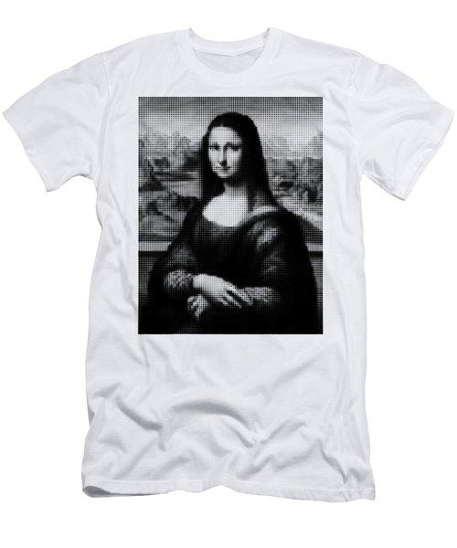 Mona Lisa Halftone Men's T-Shirt (Athletic Fit)
