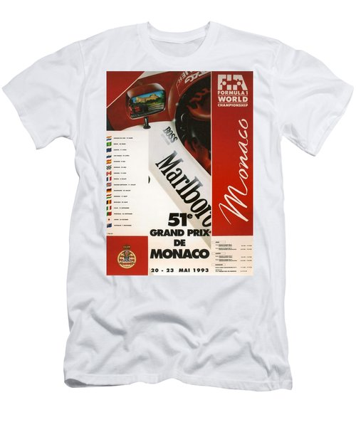 Monaco F1 1993 Men's T-Shirt (Athletic Fit)