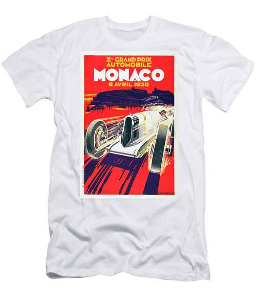 Men's T-Shirt (Slim Fit) featuring the digital art Monaco Grand Prix 1930 by Taylan Apukovska