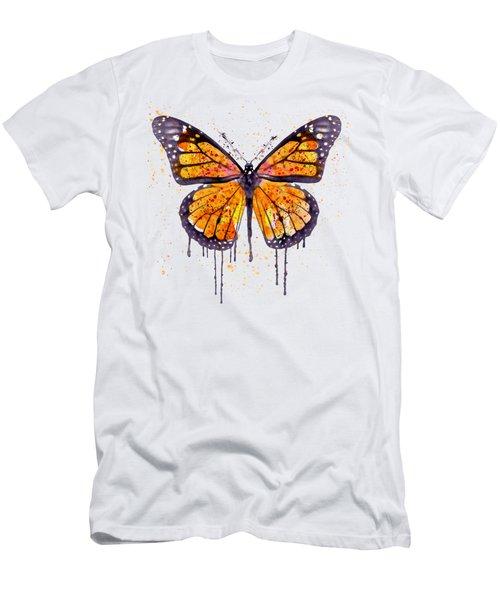 Monarch Butterfly Watercolor Men's T-Shirt (Slim Fit)