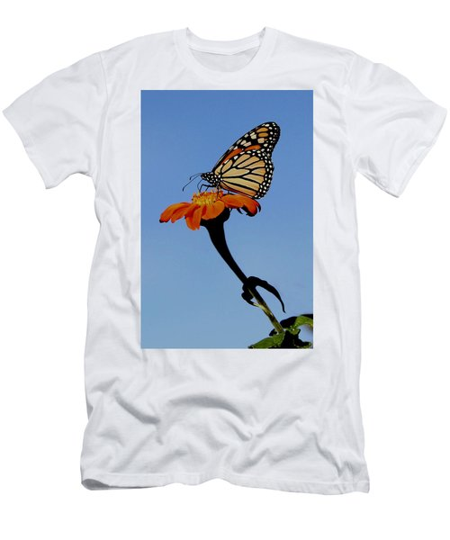 Monarch On Zinnia  Men's T-Shirt (Athletic Fit)