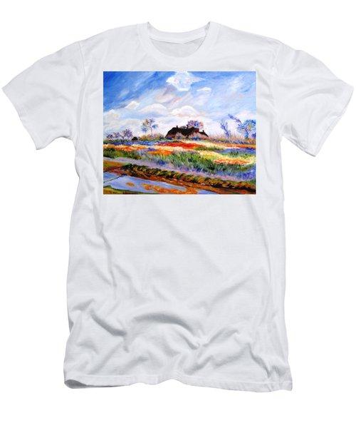 Monet's Tulips Men's T-Shirt (Athletic Fit)