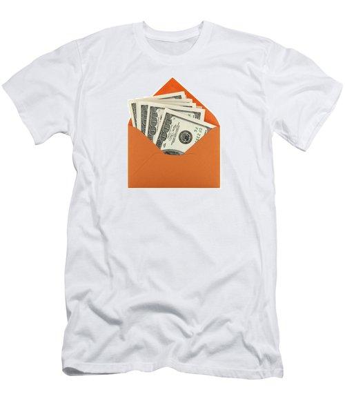 Money In An Orange Envelope Men's T-Shirt (Athletic Fit)