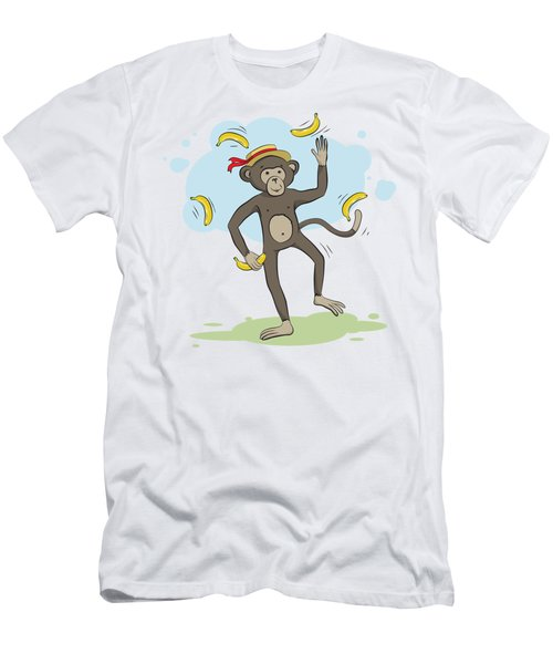 Monkey Juggling Bananas Men's T-Shirt (Athletic Fit)