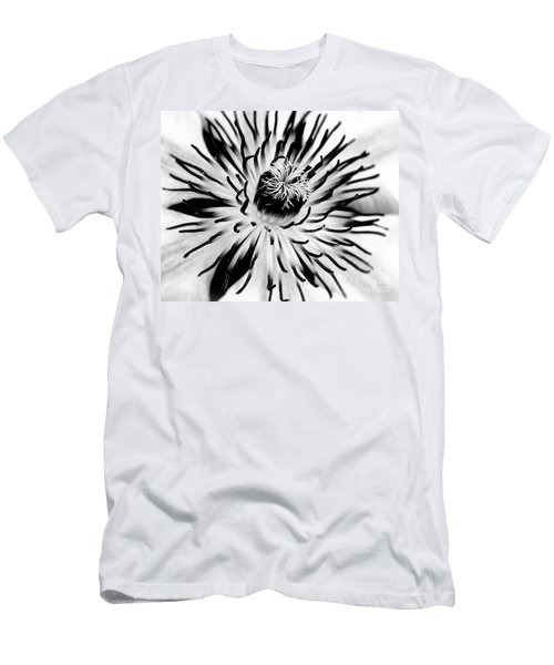 Mono Clematis Men's T-Shirt (Slim Fit) by Stephen Melia