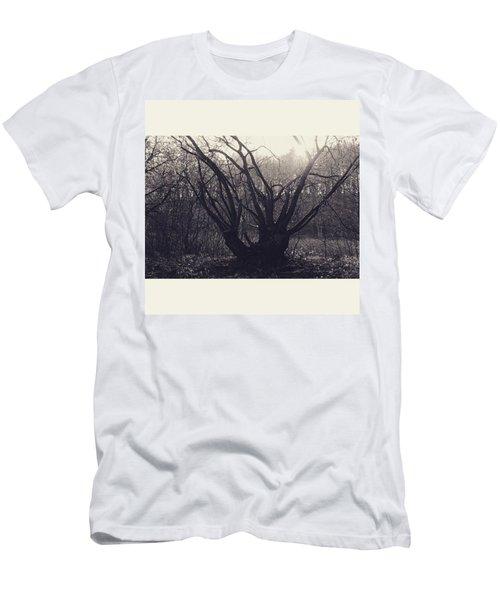 #monochrome #canon #tree #blackandwhite Men's T-Shirt (Athletic Fit)