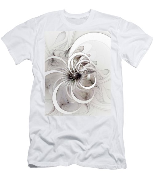 Monochrome Flower Men's T-Shirt (Athletic Fit)