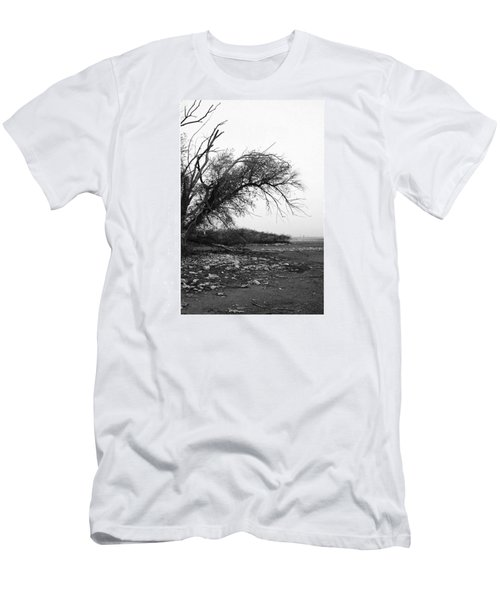 #monochrome #lake #landscape  #stausee Men's T-Shirt (Athletic Fit)