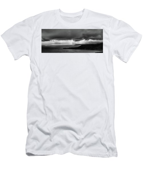 Monochrome Storm Panorama Men's T-Shirt (Athletic Fit)
