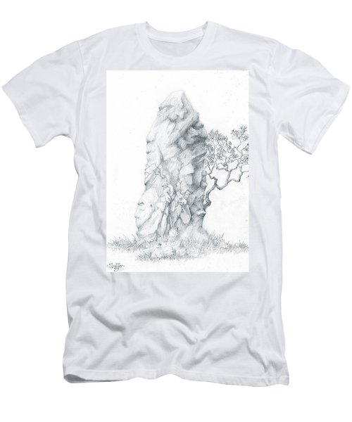Men's T-Shirt (Slim Fit) featuring the drawing Monolith 2 by Curtiss Shaffer