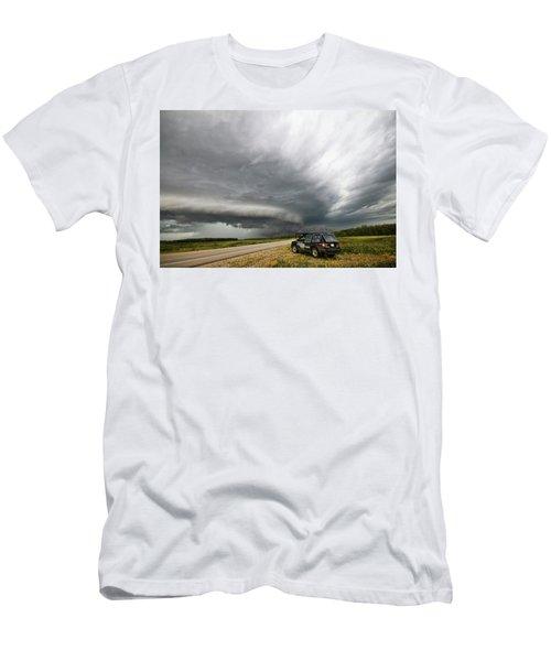 Monster Storm Near Yorkton Sk Men's T-Shirt (Athletic Fit)