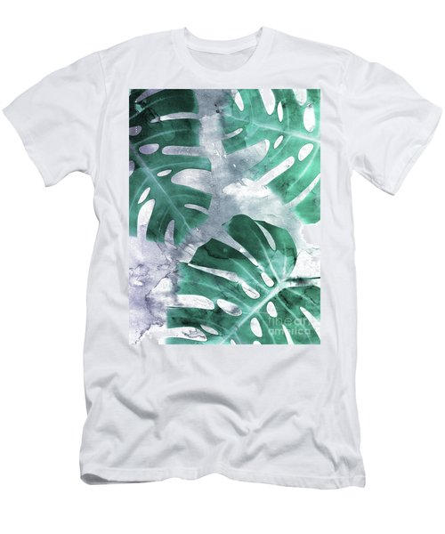 Monstera Theme 1 Men's T-Shirt (Athletic Fit)