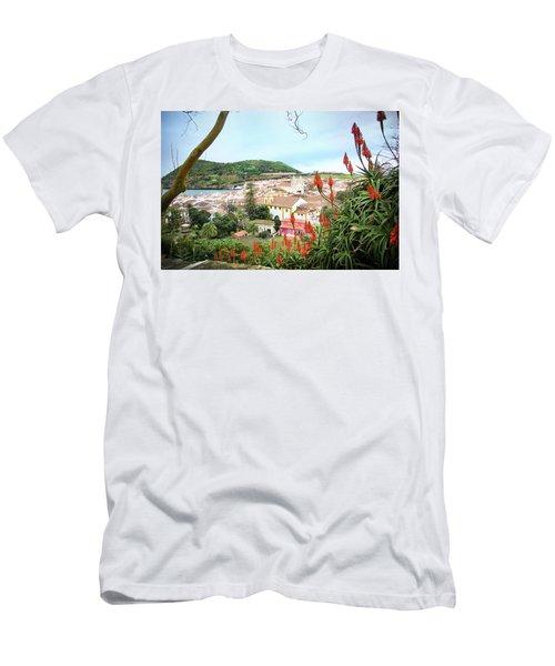 Monte Brasil And Angra Do Heroismo, Terceira Men's T-Shirt (Slim Fit) by Kelly Hazel