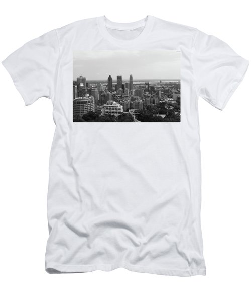 Montreal Cityscape Bw Men's T-Shirt (Athletic Fit)