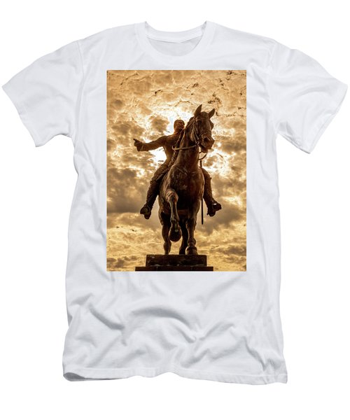 Men's T-Shirt (Athletic Fit) featuring the photograph Monumento A Calixto Garcia Havana Cuba Malecon Habana by Charles Harden