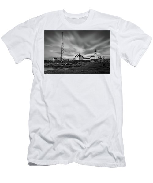 Moody Sky At Eastern Point Lighthouse Men's T-Shirt (Athletic Fit)
