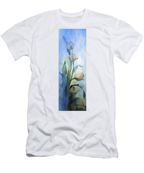 Men's T-Shirt (Athletic Fit) featuring the painting Moody Tulips by Hanne Lore Koehler