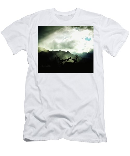 Men's T-Shirt (Slim Fit) featuring the photograph Moody Weather by Mimulux patricia no No